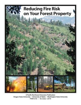 Image of Reducing Fire Risk on Your Forest Property publication