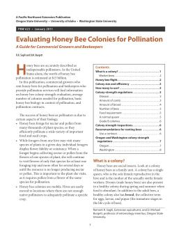 Image of Evaluating Honey Bee Colonies for Pollination publication