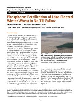 Image of Phosphorus Fertilization of Late-Planted Winter Wheat in No-Till Fallow publication