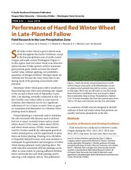 Image of Performance of Hard Red Winter Wheat in Late-Planted Fallow publication