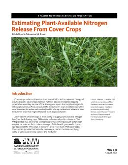 Image of Estimating Plant-Available Nitrogen Release from Cover Crops publication