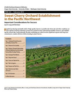 Image of Sweet Cherry Orchard Establishment in the Pacific Northwest publication