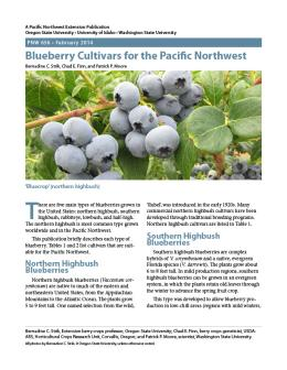 Image of Blueberry Cultivars for the Pacific Northwest publication