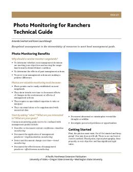 Cover image of Photo Monitoring for Ranchers Technical Guide