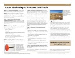 Cover image of Photo Monitoring for Ranchers Field Guide