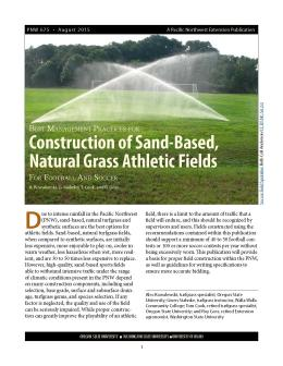 The cover for PNW 675, Construction of Sand-Based Natural Grass Athletic Fields