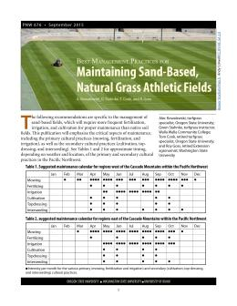 The cover of Best Management Practices for Maintaining Sand-based, Natural Grass Athletic