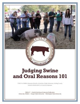 "Cover image of ""Judging Swine and Oral Reasons 101"""