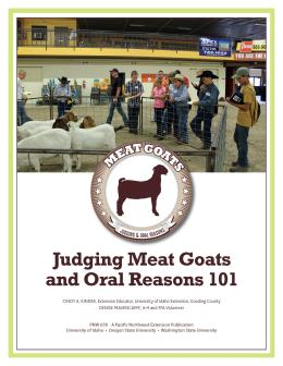 "Cover image of ""Judging Meat Goats and Oral Reasons"""