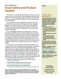 "Cover image of ""Farm-direct Marketing: Food Safety and Product Quality"""