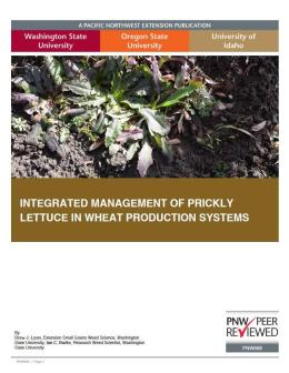 """Cover image of """"Integrated Management of Prickly Lettuce in Wheat Production Systems"""""""