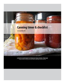 """Cover image of """"Canning Timer & Checklist App"""" publication"""