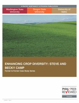 "Cover image for ""Enhancing Crop Diversity: Steve and Becky Camp"""