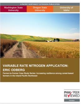 "Cover image for ""Variable Rate Nitrogen Application: Eric Odberg"""
