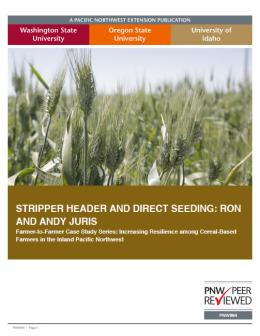 "Cover image of ""Stripper Header and Direct Seeding: Ron and Andy Juris"""