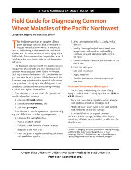 """Cover image of """"Field Guide for Diagnosing Common Wheat Maladies of the Pacific Northwest"""""""