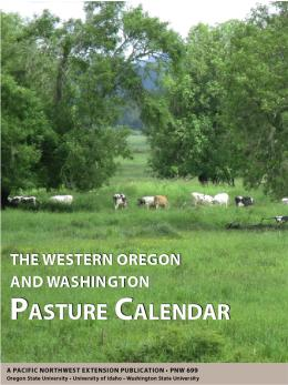 "Cover image of ""The Western Oregon and Washington Pasture Calendar"""