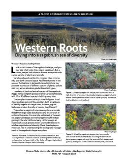"cover image of ""Western Roots: Diving into a sagebrush sea of diversity"" publication"