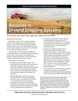 "Cover image of ""Biosolids in Dryland Cropping Systems"" publication"