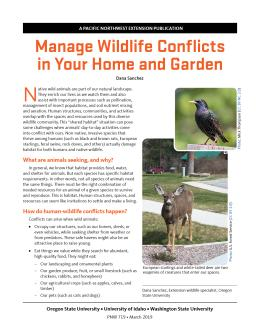 """Cover image of """"Manage Wildlife Conflicts in Your Home and Garden"""" publication"""