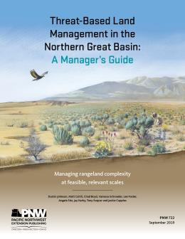"Cover image of ""Threat-Based Land Management in the Northern Great Basin: A Manager's Guide"" publication"