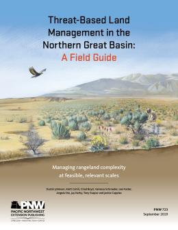 "Cover image of ""Threat-Based Land Management in the Northern Great Basin: A Field Guide"" publication"