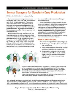 "Cover image of ""Sensor Sprayers for Speciality Crop Production"""