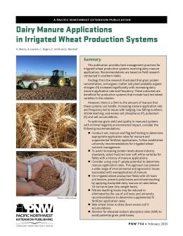 "Cover image of ""Dairy Manure Applications in Irrigated Wheat Production Systems"" publication"