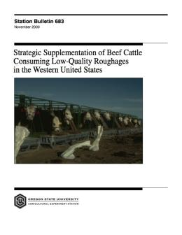 Image of Strategic Supplementation of Beef Cattle Consuming Low-Quality Roughages in the Western United States publication