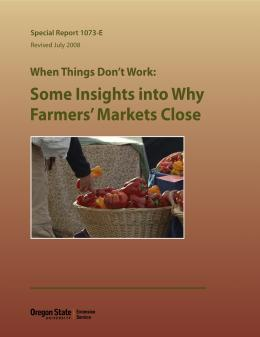 Image of When Things Don't Work: Some Insights into Why Farmers' Markets Close publication