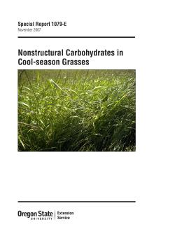 Image of Nonstructural Carbohydrates in Cool-season Grasses publication
