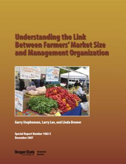 Image of Understanding the Link Between Farmers' Market Size and Management Organization publication