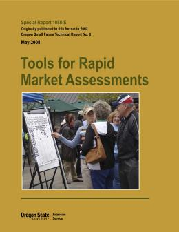 Image of Tools for Rapid Market Assessments publication