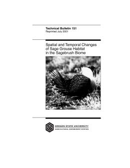 Image of Spatial and Temporal Changes of Sage Grouse Habitat in the Sagebrush Biome publication