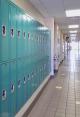 lockers in school hallway